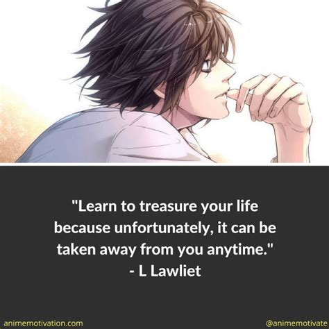 Quotes About L by 12 Of The Best L Lawliet Quotes From Note Anime