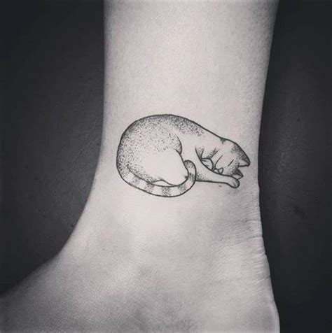 outline sleeping cat tattoo 50 exceptional cat ideas for the of the