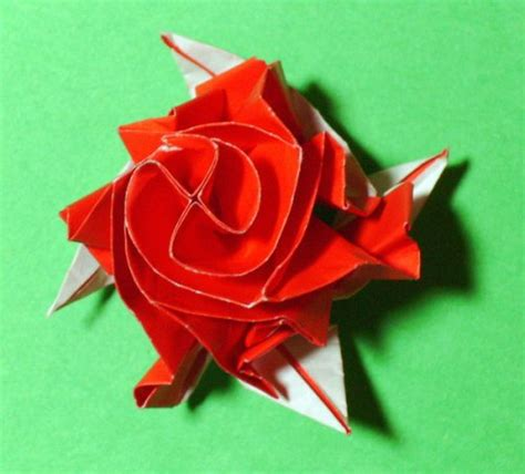 Origami Roses With Stems - stem origami 171 embroidery origami
