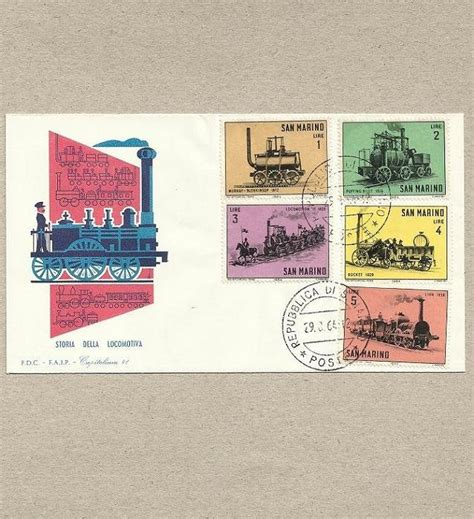 San Marino Post Office by San Marino 1964 Five Sts On Day Cover