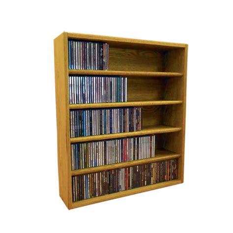 Solid Wood Cd Rack by Wood Shed Solid Oak Cd Storage Rack 310 Cd Capacity Tws 503 2