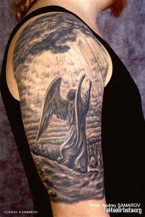 half sleeve angel tattoos for men 25 best ideas about on