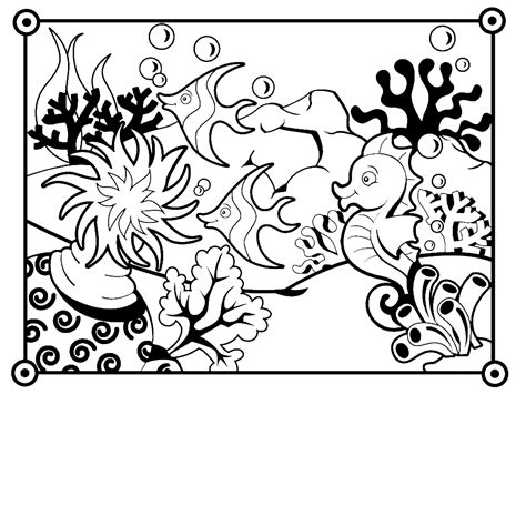 fish coloring book pages coloring home sea fish coloring pages coloring home