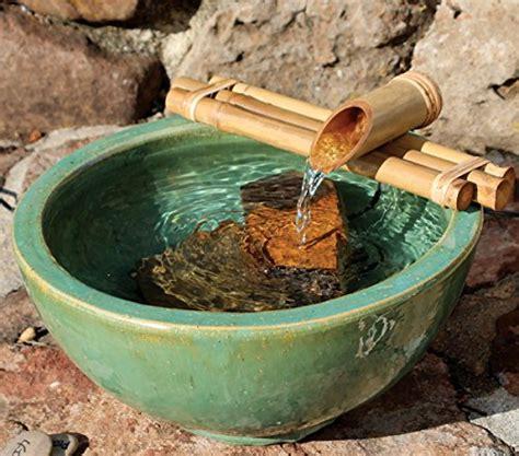 bamboo fountain with pump medium 12 inch three arm style