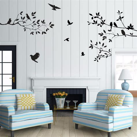wall stickers for living room sale birds tree wall stickers home decor living room diy