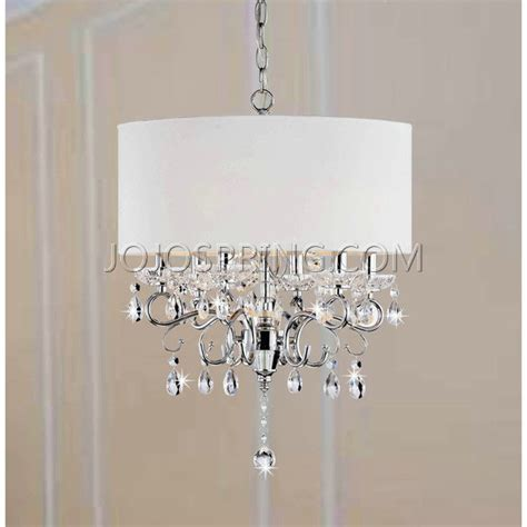 White Chandelier With Shades Allured Chandelier Solid White Shade L937 Ho 441
