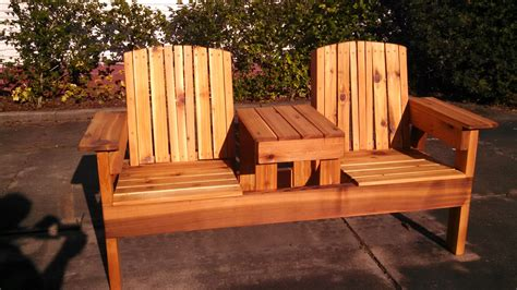 double chair bench  table ryobi nation projects