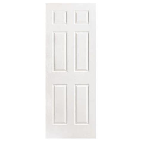 Masonite 32 In X 96 In Textured 6 Panel Hollow Core 32 Interior Door