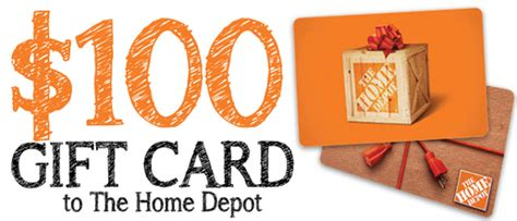 the home depot gift card sweepstakes