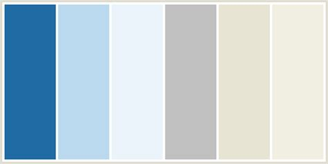 blue gray color scheme colorcombo173 with hex colors 206ba4 bbd9ee ebf4fa