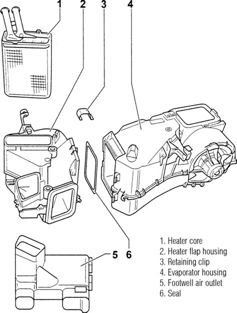 auto air conditioning repair 1991 audi 80 instrument cluster repair guides heater core removal installation autozone com