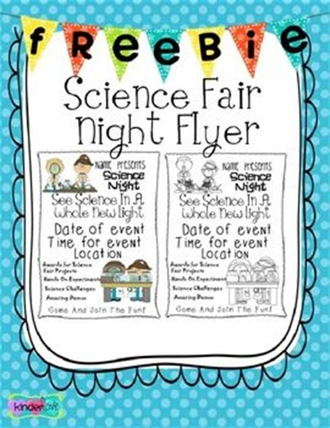 Parent Letter Science Project Freebie Science Flyer Math And Engineering Science Fair