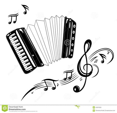 accordion music stock photo image of graphic instrument