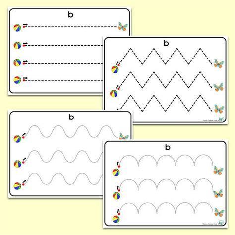 pre writing pattern sheets bb themed pre writing patterns primary treasure chest