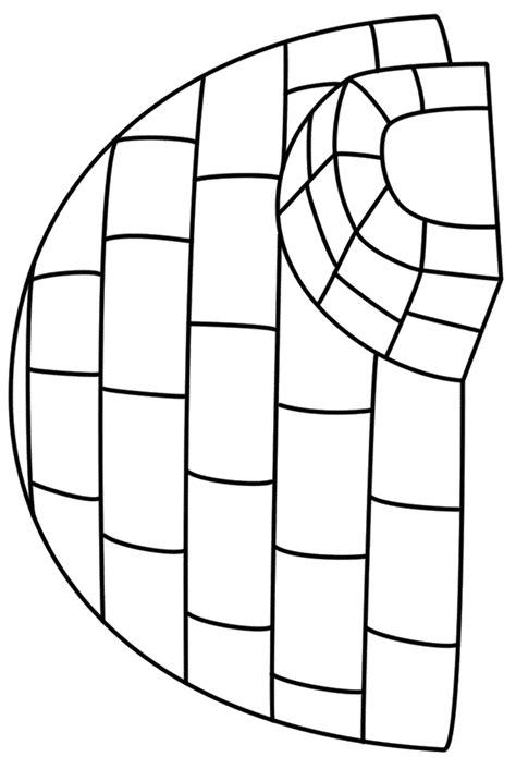 coloring page for igloo igloo coloring pages 1