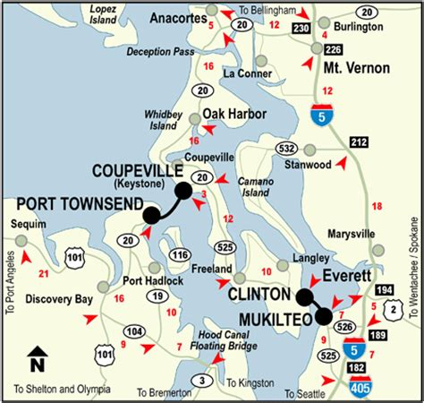 map of whidbey island whidbey island map