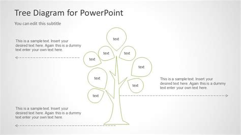 6029 01 tree diagram template 4 slidemodel