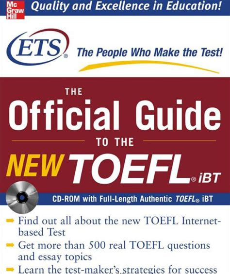 the official guide to the toefl test with dvd rom fifth edition books free the official guide to the new toefl ibt