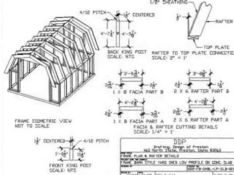 Barn Style Shed Plans 10×12
