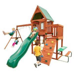 home depot play structure swing n slide playsets knightsbridge wood complete playset