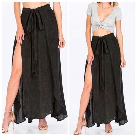 Restock Slit Maxi Skirt last 2 grey slit maxi skirt from grettel s