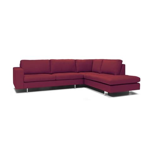 brescia modern fabric corner sofa with metal legs