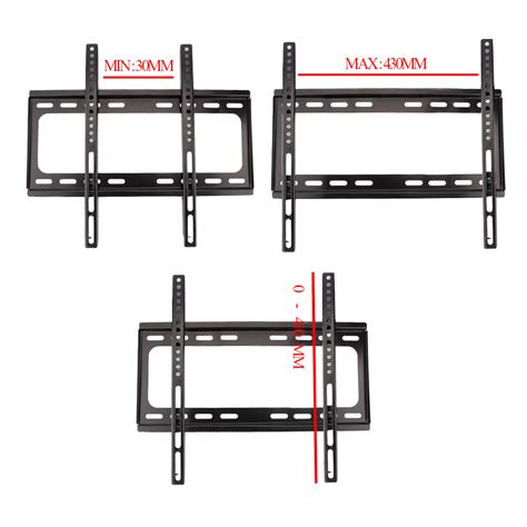 Tv Bracket 400 X 400 Pitch 7 0cm Wall Distance For 26 55 Inch Tv ultra slim 3d lcd led tv wall mount bracket for samsung lg 32 37 40 42 46 52 55 quot ebay