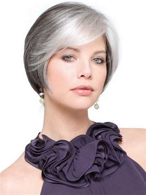 gray fine straight hair styles short hairstyles for grey hair