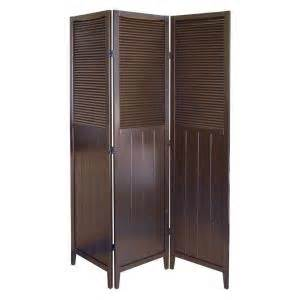 home depot room dividers home decorators collection 5 83 ft espresso 3 panel room