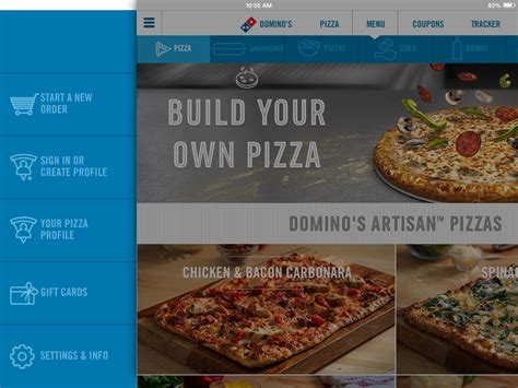 domino pizza akses ui domino s pizza tabpatterns tablet ui patterns