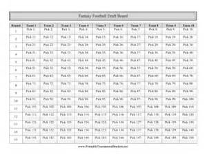 Football Draft Board Template by Printable Football Draft Board