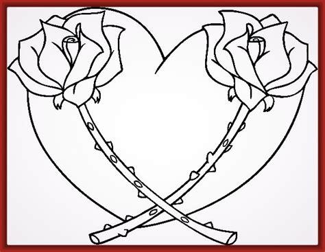 imagenes de rosas y corazones para colorear imagenes de corazones para pintar e imprimir fotos de