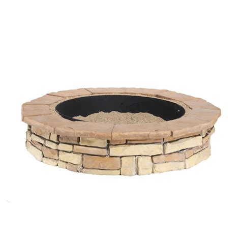 lowes firepit kit shop pit patio block project kit at lowes