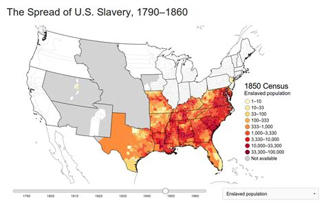 map of the united states slavery mapping the spread of american slavery the backward glance