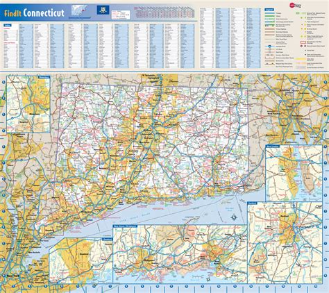 connecticut state map connecticut state map images