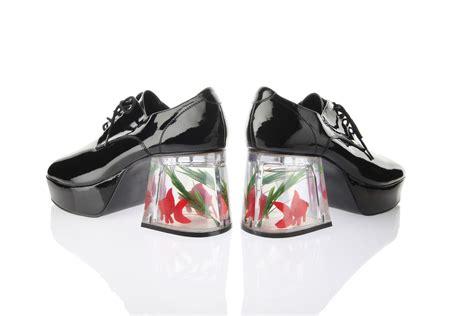 fish shoes the the infamous fish tank platform shoes