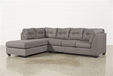 left sectional maier charcoal 2 piece sectional w sleeper left facing