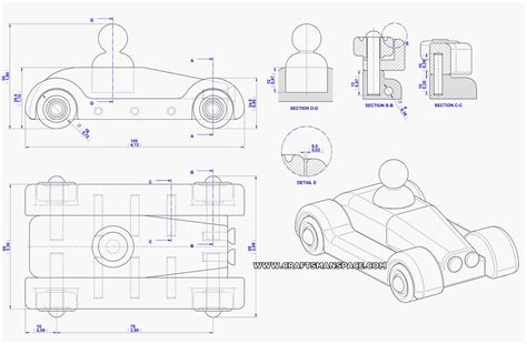 automobile kids toy plan assembly drawing jucarii din