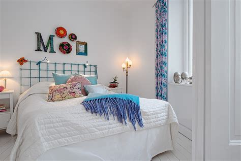 swedish white heirloom apartment wrought iron bed