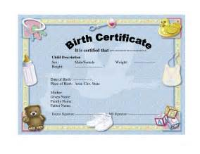 birth certificate templates birth certificate template playbestonlinegames