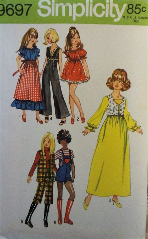 11 1 2 fashion doll patterns simplicity 9697 doll clothes sewing pattern for 11 1 2