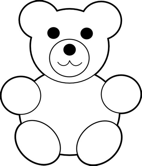 Teddy Outline Images by Printable Teddy Clip At Clker Vector Clip Royalty Free Domain