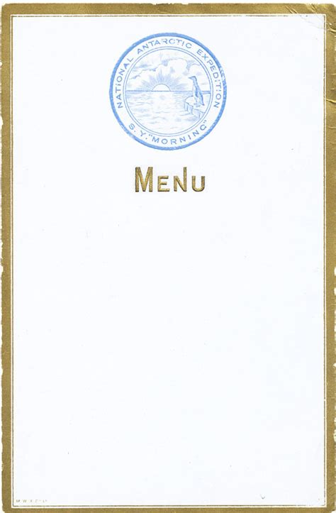 empty menu template blank menu cards design images