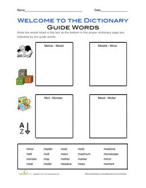 Guide Words Worksheets by 1000 Images About Dictionary Skills On Common