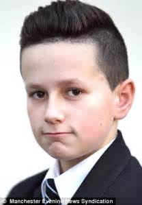 academy haircut salford boy banned from school over extreme haircut