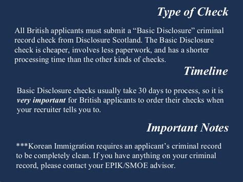 Teaching Criminal Record United Kingdom Criminal Record Check Teaching In South Korea