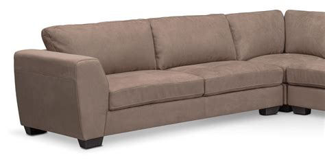 4 piece sectional with chaise santana 4 piece sectional with right facing chaise taupe