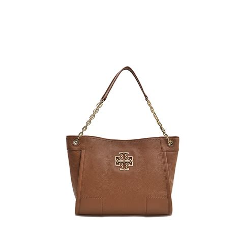 Burch Small Slouchy Tote lyst burch britten small slouchy tote in brown
