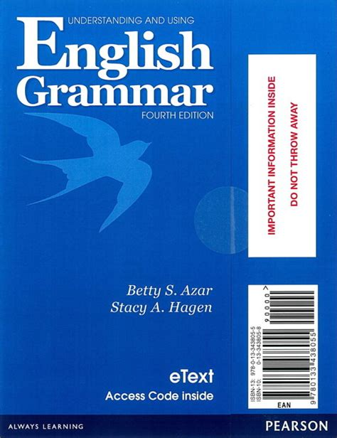 Understanding And Using Grammar 2nd Ed understanding and using grammar 4th edition student etext with audio without answer
