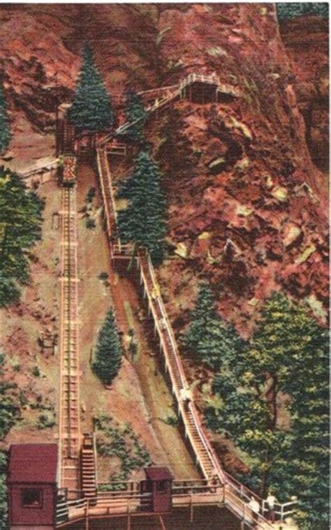 Seven Springs Gift Card - incline railway at seven falls colorado springs co vintage postcard antiqueplum